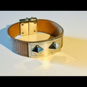 VINCE CAMUTO LEATHER WRAP BRACELET NWOT